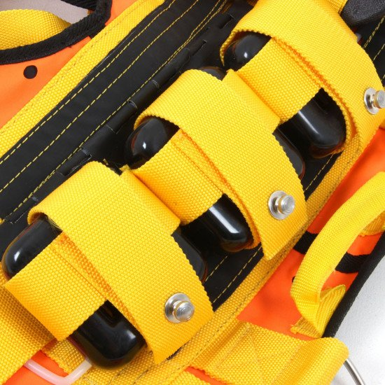 Hold up to 3 weights on each side of your R-Vest with our specially designed press stud pockets