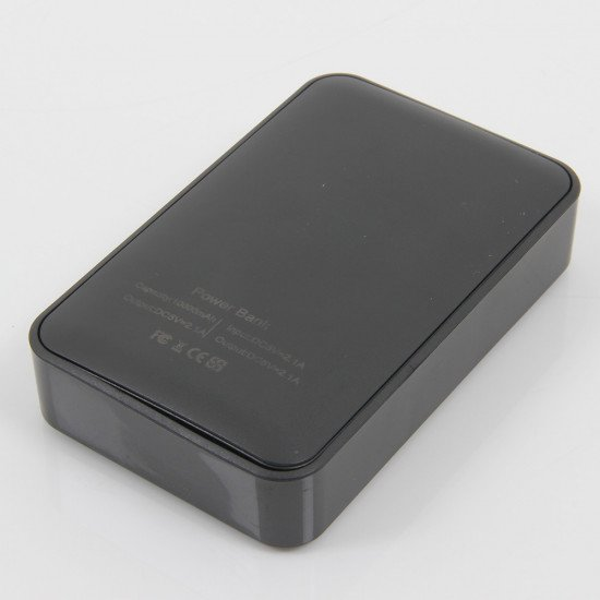 3.7V Portable Power Bank Charger: back view