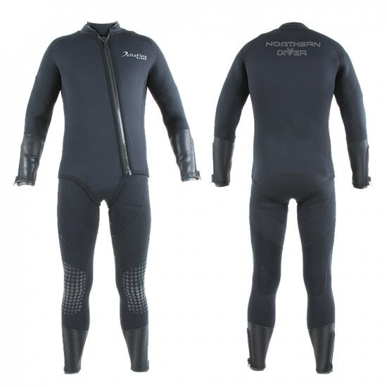 Delta Flex Black wetsuit built for commercial divers and used by the worlds military