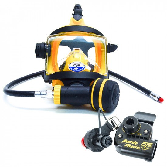 Yellow colour OTS Guardian Full Face Mask and BuddyPhone Combo