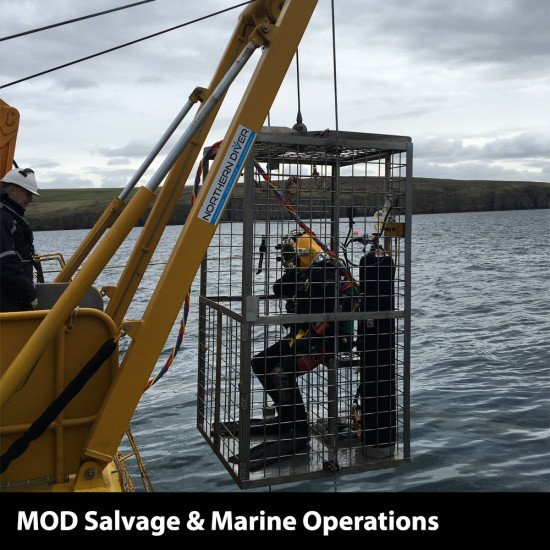 Northern Diver LARS in action, MOD Salvage and Marine Operations