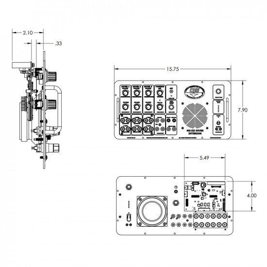 MK-III 3 Diver Intercom Dimensions