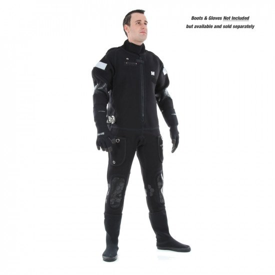 The suit is based around a unique heavy anodized aluminium water distribution valve