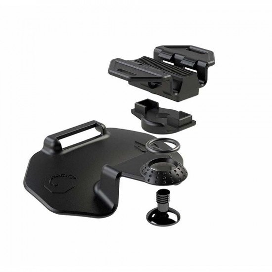 Paralenz Adjustable Mask Mount blown out view with spare parts view