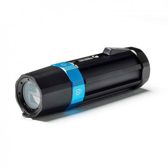 Paralenz Dive Camera+ ports & blue toggle modes front, lens at the rear