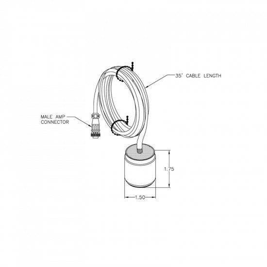 TCA-35 Transducer assembly cable (for SP-100D-2 & STX-101)
