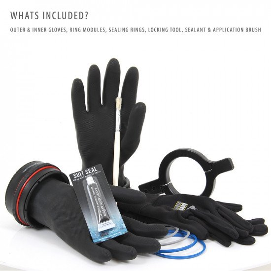 Included in the Dry Glove System package are the pair of Ansell Extra™ gloves, thermal fleece inner