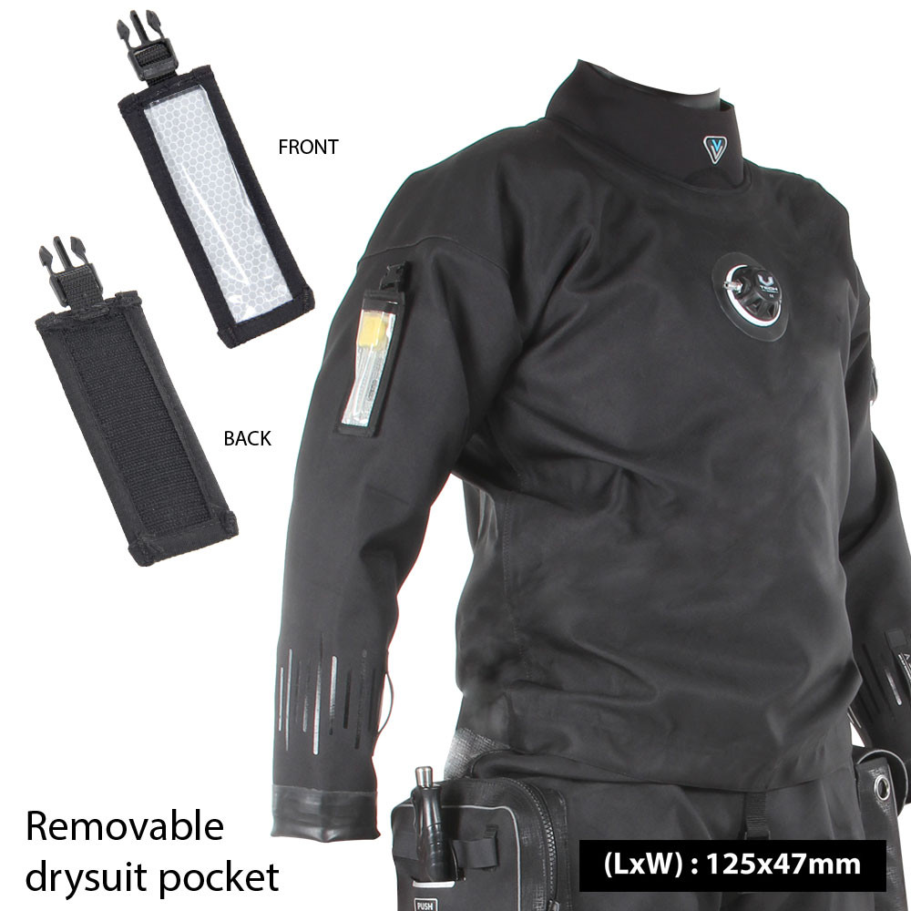 Flexi-Light stick pocket for clipping to drysuits