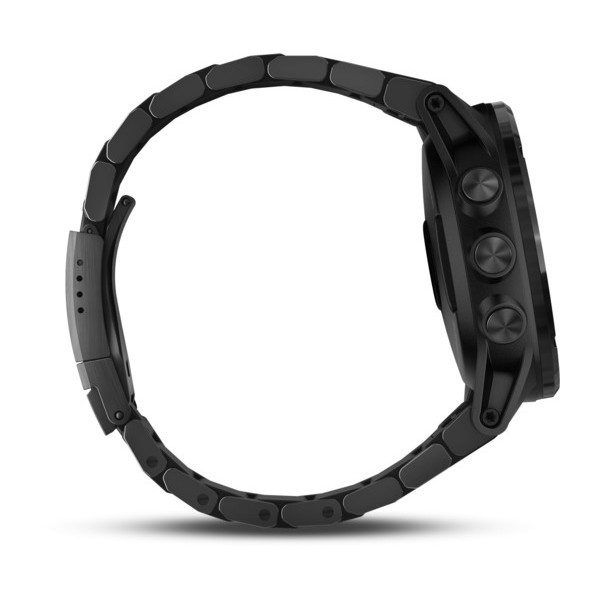 Garmin Descent™ Mk1 Grey Sapphire with DLC Titanium Band side view, facing right
